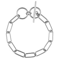 Серебристый браслет Wanderlust + Co Chain Story Toggle XL Chain Link, фото